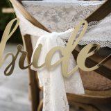 Stuhl Deko bride