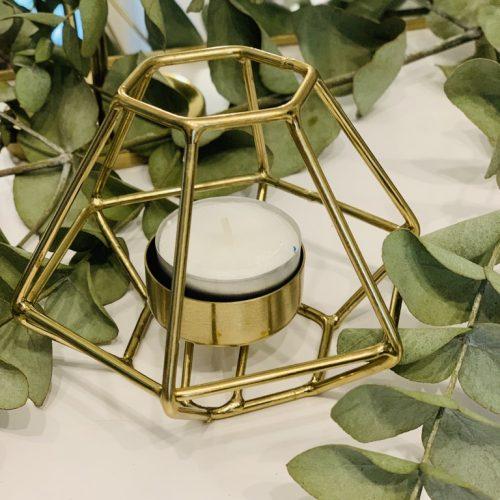 Teelichthalter gold 1